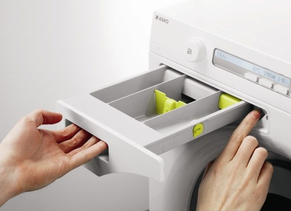 Asko washing machine child safe detergent drawer
