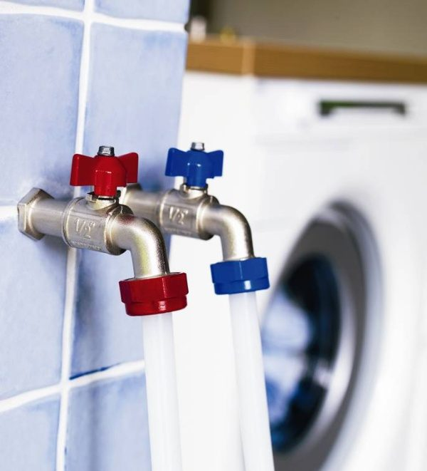 Asko washing machines have hot and cold water connections
