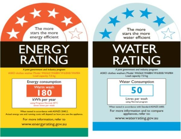 WELS and Energy Rating Label