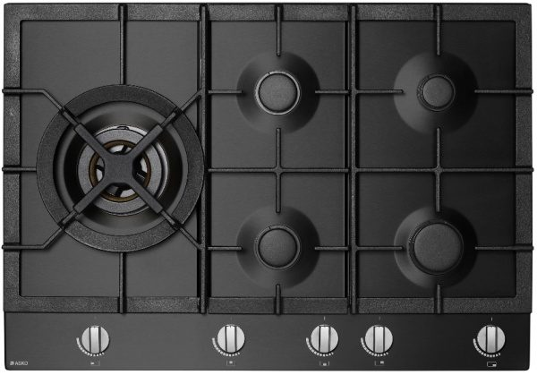 Asko athracite cooktop top view