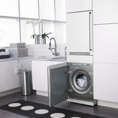Asko stacked fully integrated laundry appliances