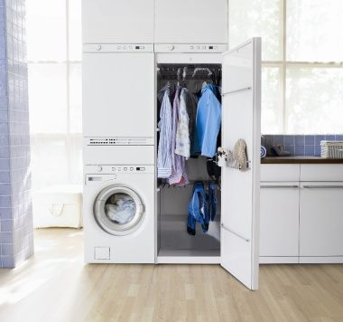 Asko washer and dryer with drying cabinet