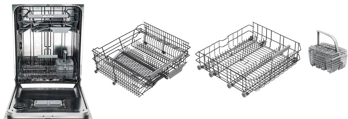 Asko series 6 dishwasher premium baskets with knife caddy