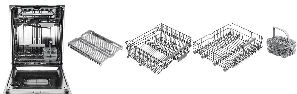 Asko series 6 dishwasher premium baskets with flexitray