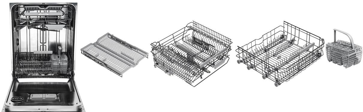 Asko series 6 dishwasher with 4 exclusive baskets