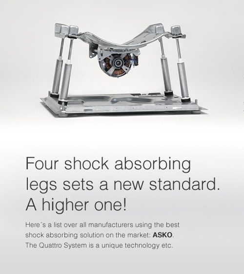 Four shock absorbing legs sets a new standard. A higher one!