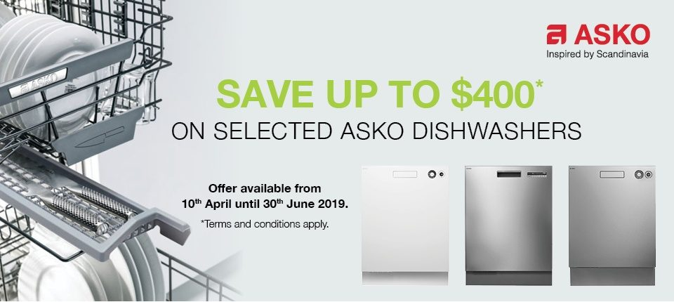 Save $400 on Selected ASKO Dishwasher