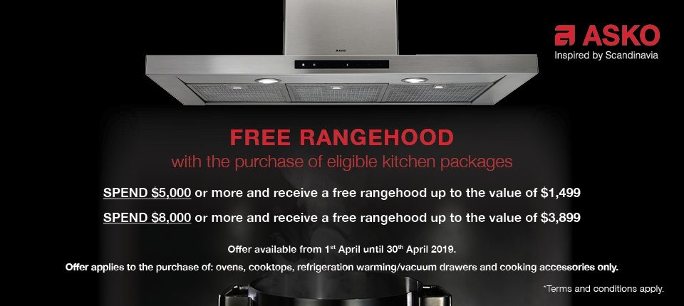 Free Rangehood Asko with the Purchase of Eligible Kitchen Packages