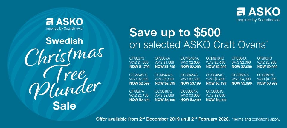 Save $500 on selected ASKO Craft Oven