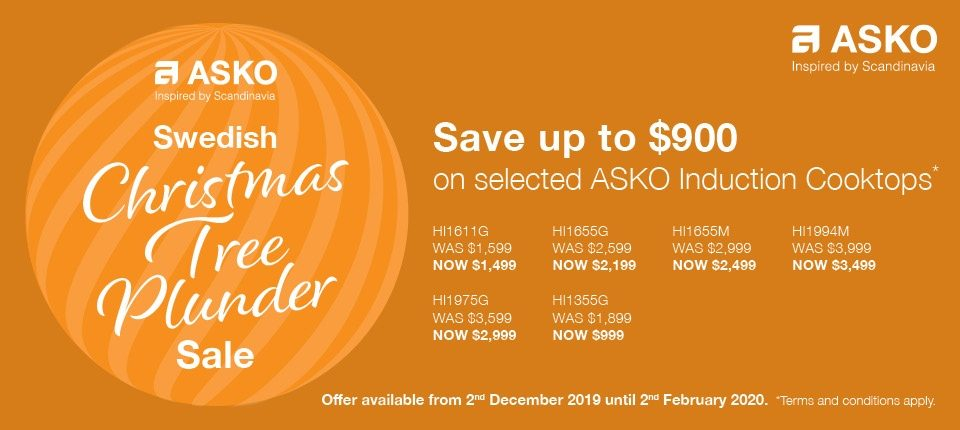 Save $900 on selected ASKO Induction CookTop