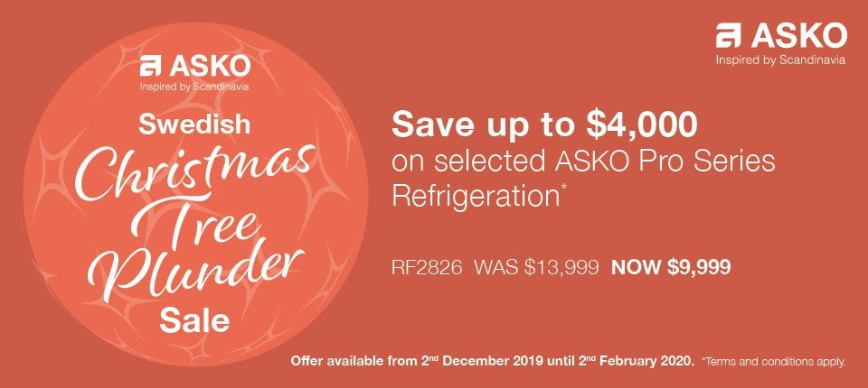 Save $4000 on selected ASKO Refrigeration