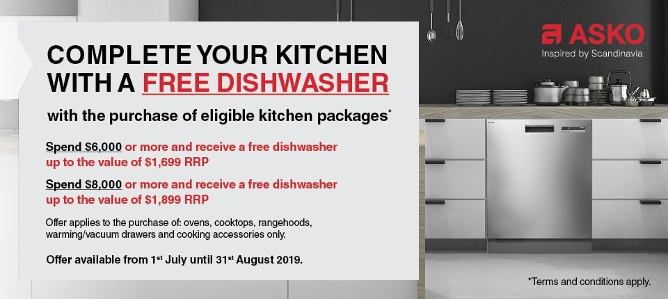 FREE ASKO Dishwasher Promotion