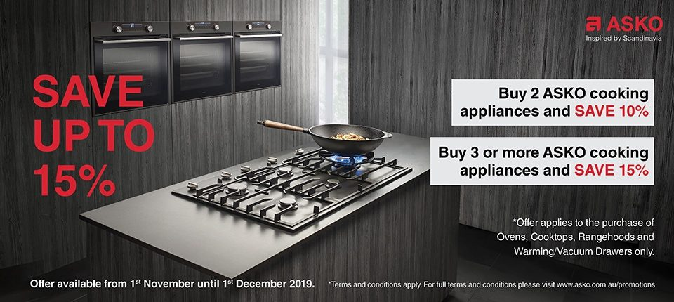 Save Upto 15% on Selected ASKO Cooking Appliances