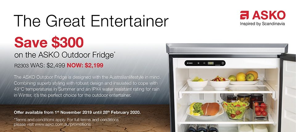 Save $300 on ASKO Outdoor Fridge