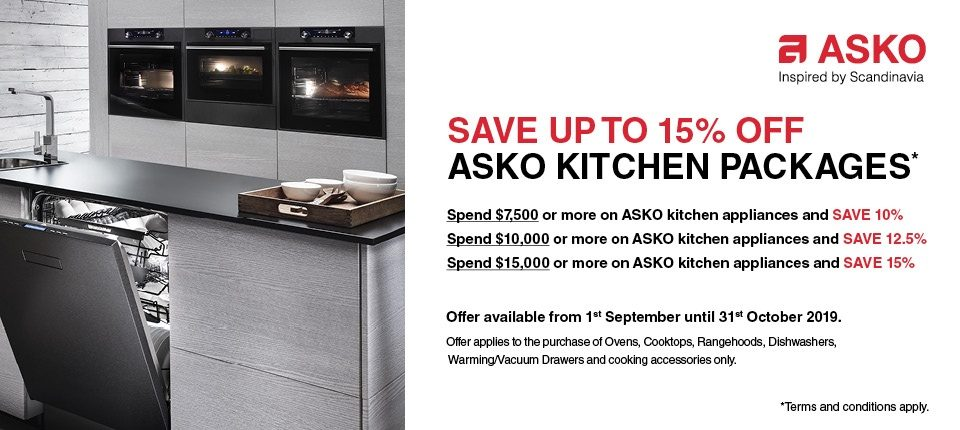 ASKO Save upto 15% off Kitchen Package