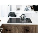 Induction cooktop in kitchen