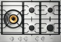 HG1776SD Stainless Steel Gas Cooktop 75 cm